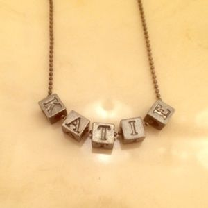 Jewelry - Silver Block Letter 'Katie' Necklace